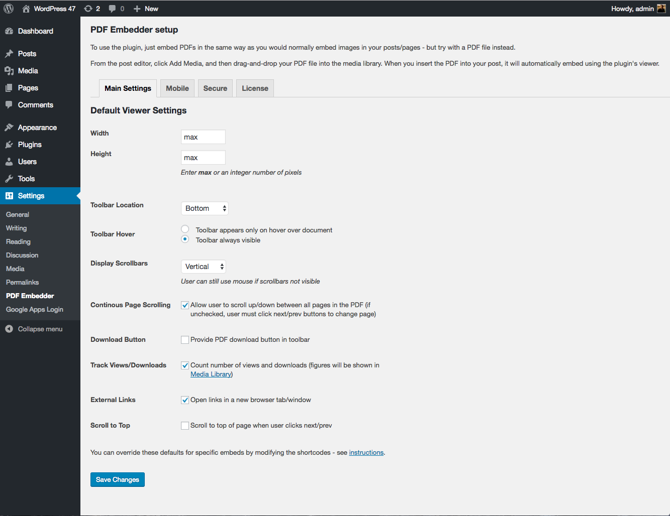 Using PDF Embedder Premium | PDF Plugins for WordPress